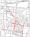 Plànol d'actuació de la zona vermella