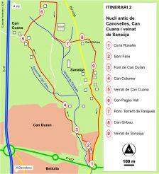 Ruta pel nucli antic de Canovelles, Can Cuana i veÏnat de Sanaüja