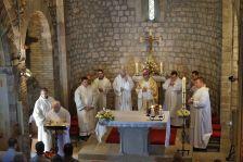 Missa del Pare Abat de Montserrat a Canovelles