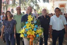 Ofrena floral per part de l'Ajuntament